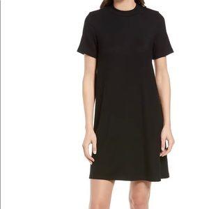 Madewell Mock Neck Ribbed T Shirt Dress Sz Large